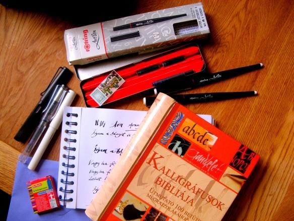 kalligráfia készlet+könyv
